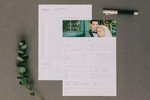 Kontaktformular und Tagesablaufplan Hochzeit