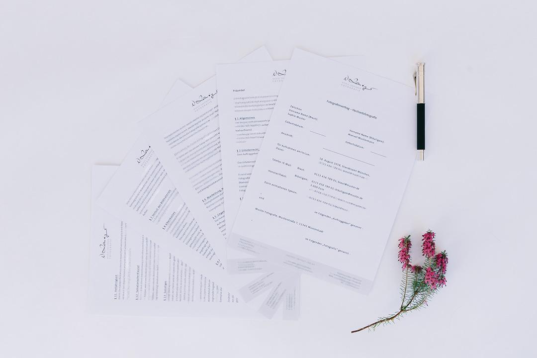 Mustervorlage Hochzeitsvertrag